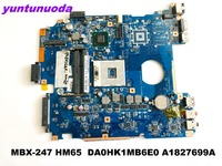 Original for SONY MBX 247 laptop motherboard MBX 247 hm65 DA0HK1MB6E0 A1827699A tested good free shipping