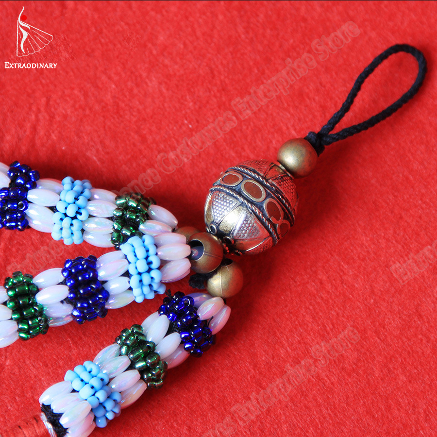 Image 5 - Belly Dance Headgear Tags Hanging Beads Tassel Tribal Accessory Hand Made Headwear Gypsy Women Stage Performance JewelryBelly Dancing   -