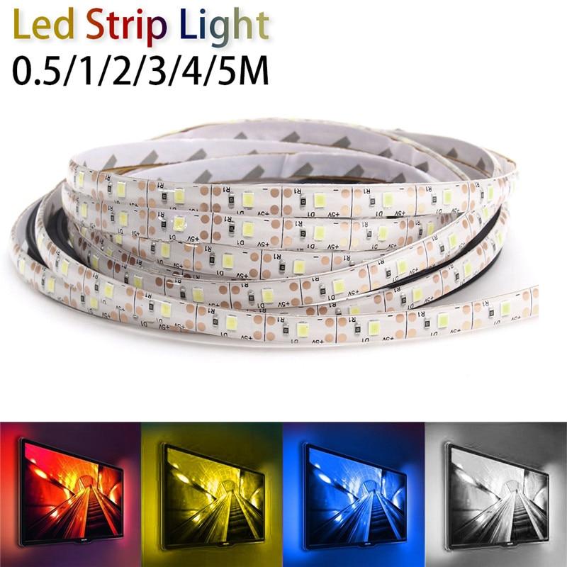 Flexible LED Strip Light Waterproof 0.5/1/2/3/4/5M 2835SMD 30/60/120/180/240/300 LED For Festival Boat Truck Car DC5V