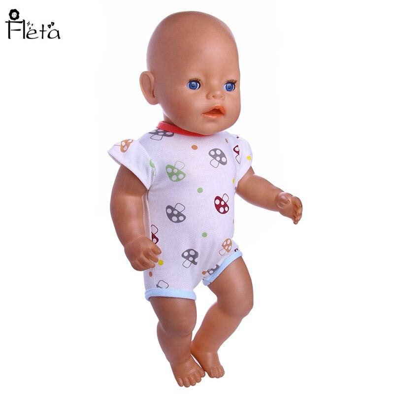 Fleta Nuevo pequeño patrón de setas Mono adaptable a 43cm Baby Born - Muñecas y accesorios - foto 2