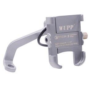 Image 4 - Универсальный держатель для телефона BuzzLee из алюминиевого сплава с usb зарядным кронштейном на руль для подставки для телефона 4 6 дюймов