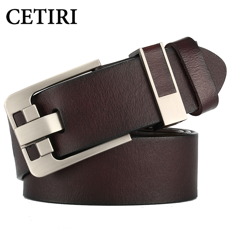 Top Quality Cowhide Genuine Leather Belts For Men Brand Strap Men's Leather Casual Pin Buckle Belt Man Cowboy Jeans Cintos