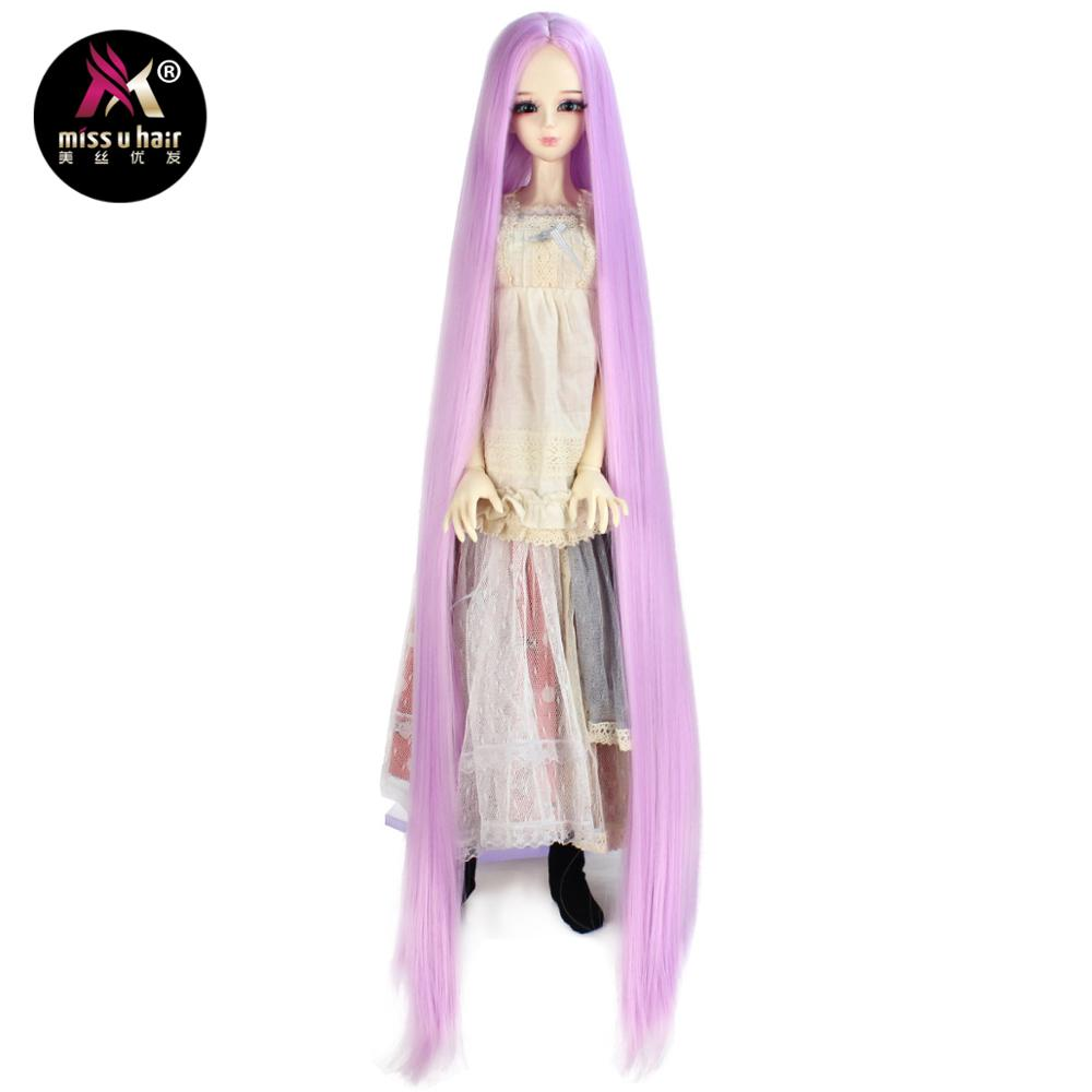 Synthetic Wigs Search For Flights Miss U Hair Fits 1/3 1/4 1/6 Bjd Mdd Sd Doll Wigs Long Straight Optional 9 Color Hair Accessories Not For Human