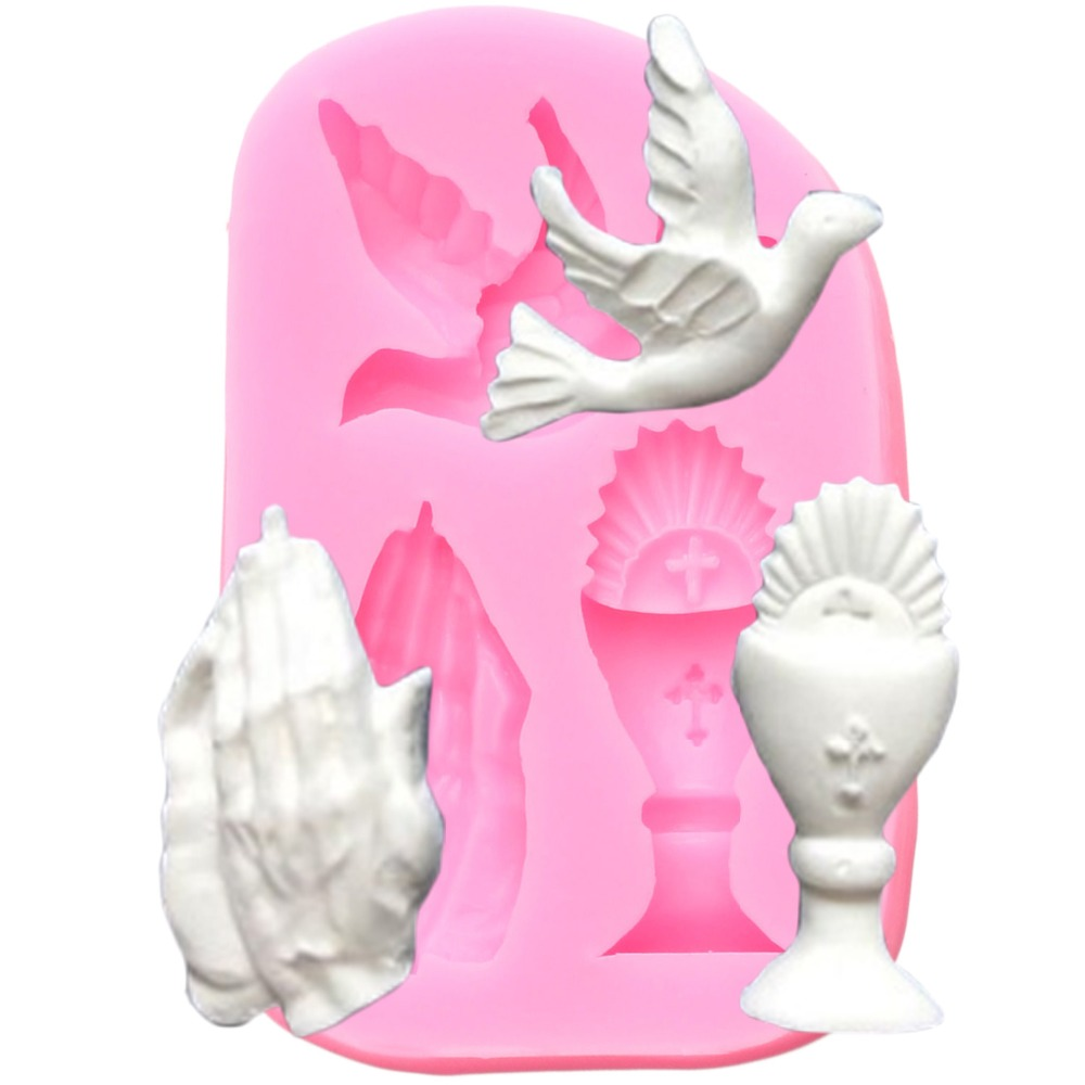 Cake Decorating Tools Hand Pigeon Silicone Mold Fondant Chocolate Candy Gumpaste Mould Kitchen Baking Moulds Polymer Clay Moulds