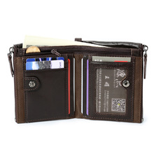 High Quality Genuine Leather Wallet men soft leather men wallets Coin purse short Multifunction male clutch mens money bag 2019 top quality pu leather men s long wallet male pruse wallets men money bag coin pocket multifunction fashion wallet clutch