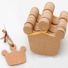 100 шт. коричневый крафт бумага талисманы тег ручной работы повесить голову этикетка чемодан одежда качели DIY пустой цена подарочные карты