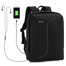 XQXA USB Charging Anti-theft Backpack Men Removable Mochila for 15-17 inch Laptop Backpack Bags School Rucksacka Waterproof