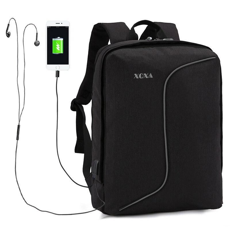 Xqxa зарядка через USB Anti-Theft рюкзак Для мужчин Съемный Mochila для 15-17 дюймов ноутбук рюкзак Сумки школы Rucksacka Водонепроницаемый