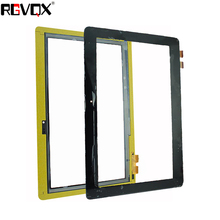 RLGVQDX New For Asus T100TA3740 Yellow flat cable 10.1''inch Black Touch Screen Digitizer Sensor Glass Panel Tablet Replacement black new 9 inch blusens touch 90 90b 90w tablet 12pins touch screen panel digitizer glass sensor replacement free shipping