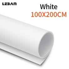 """Senza soluzione di continuità impermeabile 100 cm * 200 cm 39 """"* 79"""" Bianco PVC Background Panno per Photo Studio Fotografico di Illuminazione"""