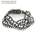 Neoglory MADE WITH SWAROVSKI ELEMENTS Rhinestone Bracelet Geometric Style Alloy Plated Classic Design Bangle Lady Summer Sale