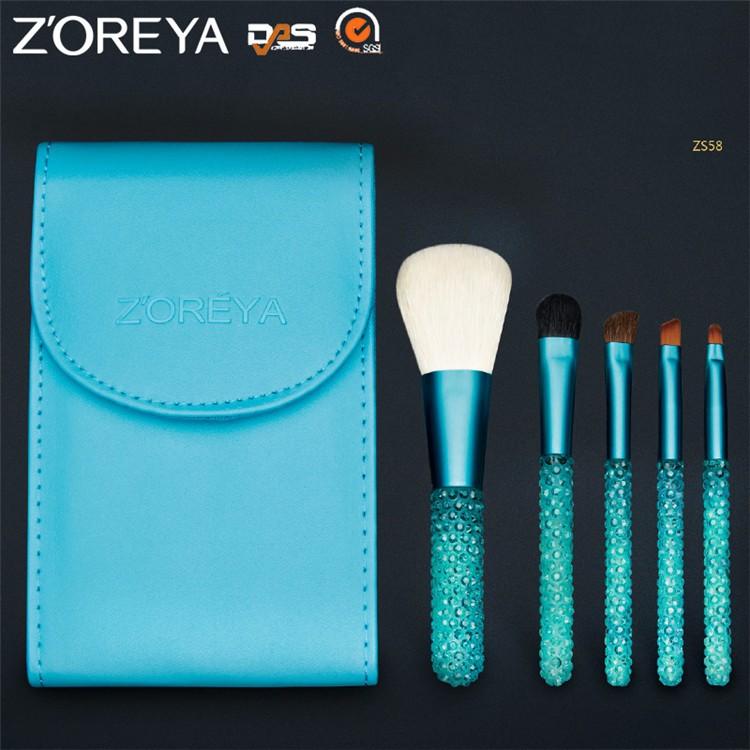 ZS58 custom logo makeup brushes (3)