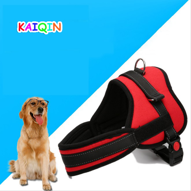 Nylon Adjustable Safety Auto Walking Large Pet Dogs Harness Chest Straps Red Size S M L XL XXL