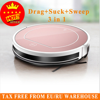 Hot Original 2 In 1 V7s Pro Robot Vacuum Cleaner With Self Charge Wet Mopping For