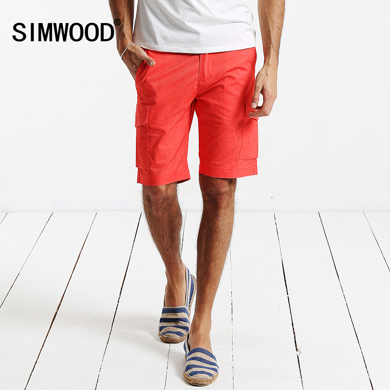 SIMWOOD Brand 2016 New Arrival Summer Men Clothing Zipper Fly Casual Shorts Plus Size Free Shipping