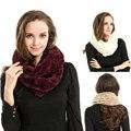 faux fur scarf Infinity 2 Circle Soft Faux Fur Cowl Neck Long women Shawl Size 160*20cm wholesale DM#6