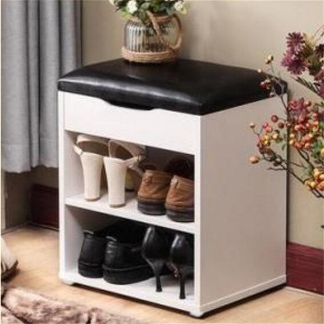 403045cm shoes storage stool modern bench living room shoe cabinet