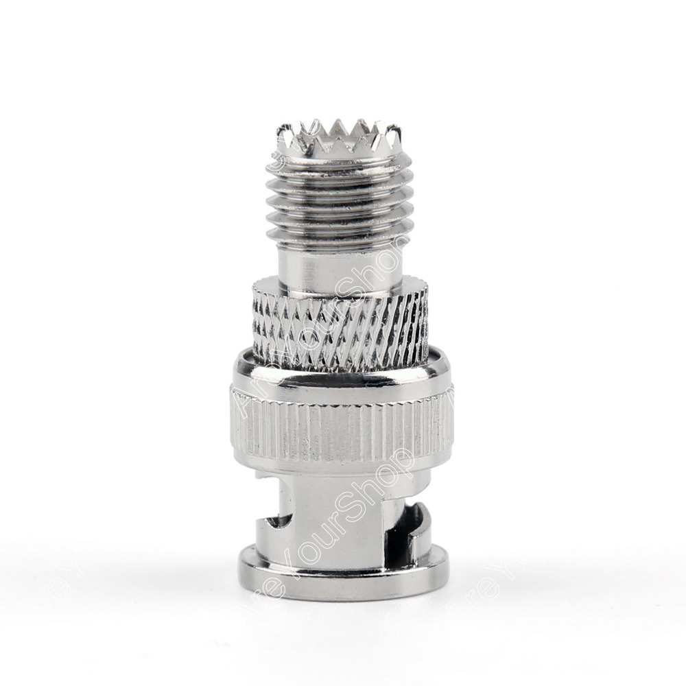 RF Connector Adapter BNC Plug Male To Mini UHF Female Jack RF Connector Straight M/F 10Pcs 50ohm Nickel plating New Arrival 1pc adapter pl259 uhf plug male nickel plating to bnc female jack nickel plating rf connector straight vc668 p0 5