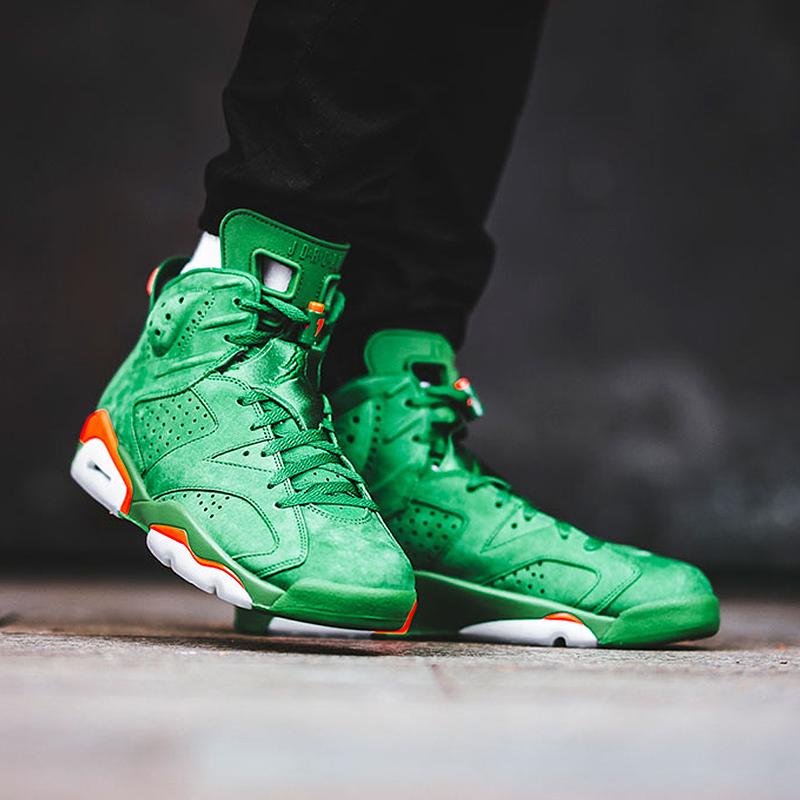 online store 0a63e cae2d Nike Air Jordan 6 Gatorade AJ6 Green Shoes Sneakers