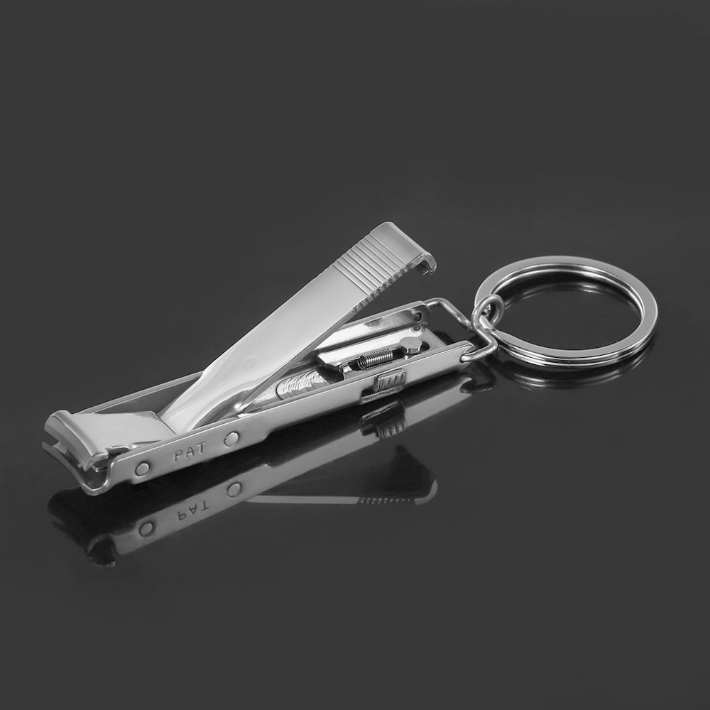 EDC Ultra-thin Foldable Hand Toe Nail Clippers Cutter Trimmer Stainless Keychain Wholesale Quality