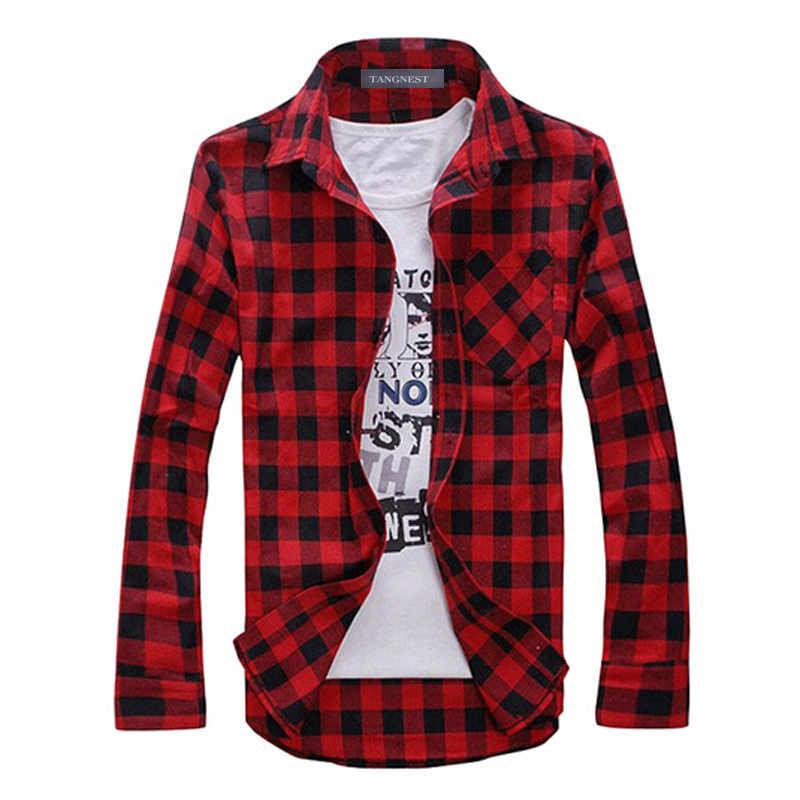 Howl Lofty Мужская рубашка в клетку Camisas Новое поступление 2017 года Мужская мода рубашка в клетку с длинными рукавами мужской Повседневное высокое качество рубашка WF12