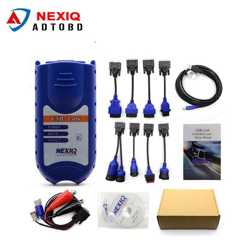 Prix pour Nouvelle Arrivée NEXIQ Auto Heavy Duty Truck Scanner Outil NEXIQ USB lien mieux que DPA5 sur vente Nexiq 125032 Usb Lien DHL livraison