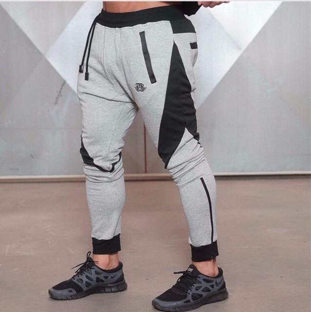 AthleticPants Pano de Treino dos homens Esportivos Ativos Calças De Algodão Homens Calças Basculador Sweatpants Legging Inferior