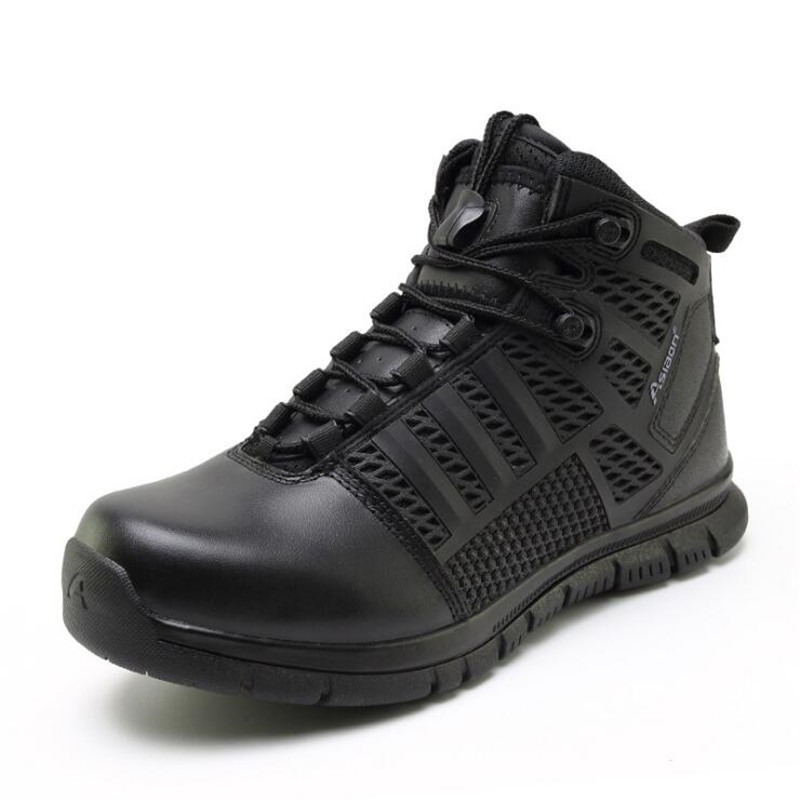 Military Tactical Combat Boots Men's Breathable Outdoor Hiking Shoes Army Desert Boots Special Forces Genuine Leather Boots