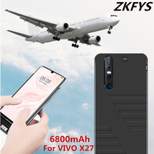 ZKFYS High Quality For VIVO X27 Ultra Thin Fast Charger Battery Case 6800mAh External Backup Power Bank Cover