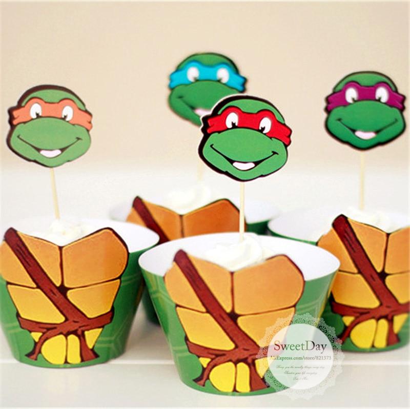 Ninja Turtle Birthday Cake Toppers