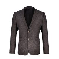 VOBOOM Mens Blazer Suit Woolen Tweed Suit Coat Autumn Winter Jacket for Bussiness Wedding Party 9872