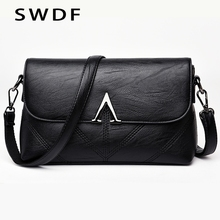 SWDF 2019 New Designer Women Shoulder Bags Fashion Crossbody For With Wide Strap  High Quality Lady Handbags