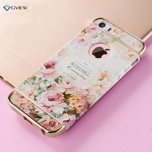 Gview 3D Embossed Printing Hard Case For iPhone 5s SE Luxury Floral Flower Cover For Apple iPhone 5 SE