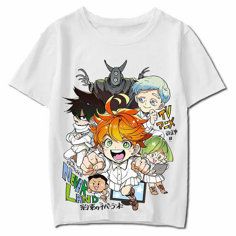 A Prometida Neverland Phil Gilda Don Norman Ray Emma Cosplay T-Shirt Yakusoku não Neverland Verão Camiseta Anime Top tee