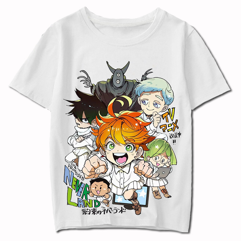 US $9 8 30% OFF|The Promised Neverland Phil Gilda Don Ray Norman Emma  Cosplay Costume T Shirt Yakusoku no Neverland Summer T Shirt Anime Top  Tee-in