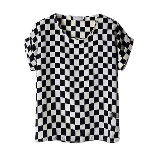 Summer Fashion O Neck Striped Women Tops Colorful Short Sleeve Female Shirts Batwing Loose Chiffon Blouse Feminino ZB