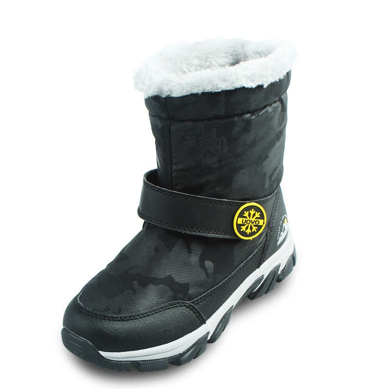 Winter Plush Mid-Calf Boots Shoes Boys Warm Children Shoes Little Girls Snow Boots Kids Fashion Shoes Hot Sale AA11143 цена