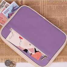 ID Card Holder Passport Cover Wallet Documents Organizer Candy Color Envelope Bag Cell Phone Clutch PC0017