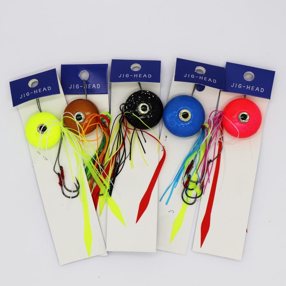 5 pcs lote gorgons 40g 60g 80g 100g 120g de metal pesca kabura slide snapper snapper