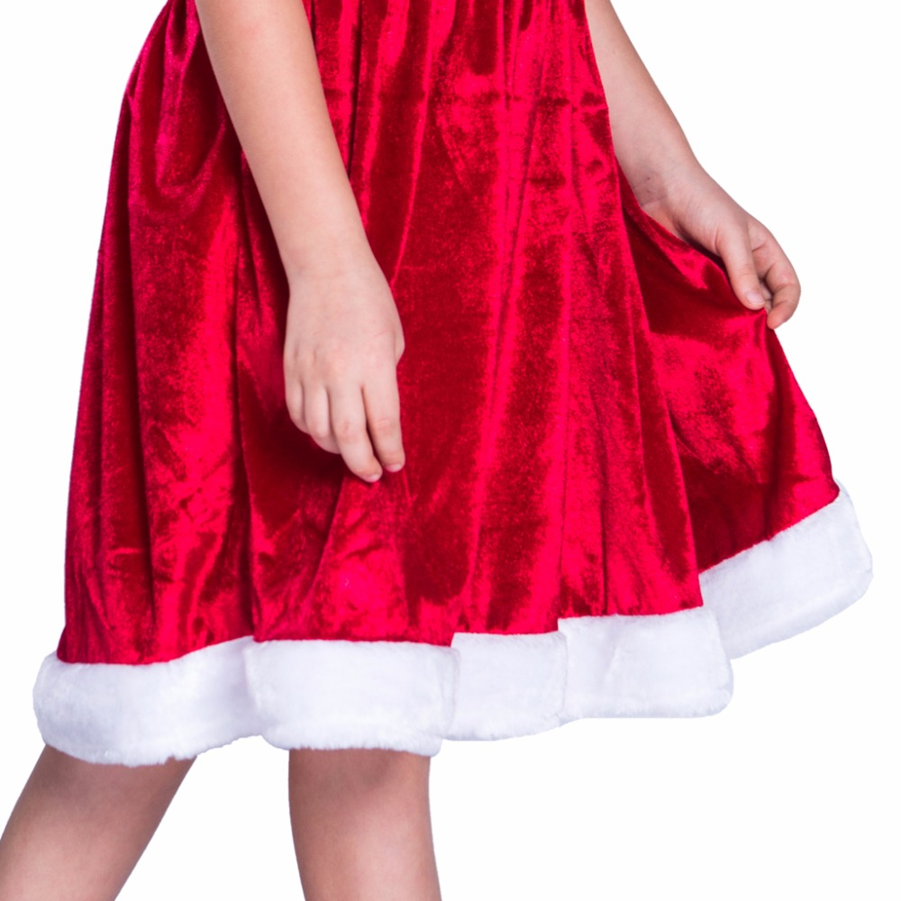 2017 cheap child christmas dress and hat set christmas costume christmas dresses for girls velvet loose christmas suit in girls costumes from novelty - Cheap Christmas Dresses