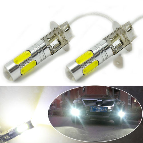 CYAN SOIL BAY 2X 5COB SMD LED H3 Bulb White Fog Light Parking Low High Beam Lamp 7.5W 12V