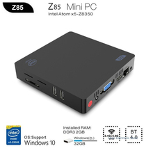 Z85 Smart TV Boxes Mini PC Intel Atom X5-Z8350 Quad Core 2G 32G 64G 1000M Wins 10 2.4G 5.8G WiFi Set Top Box Media Player minipc(China)