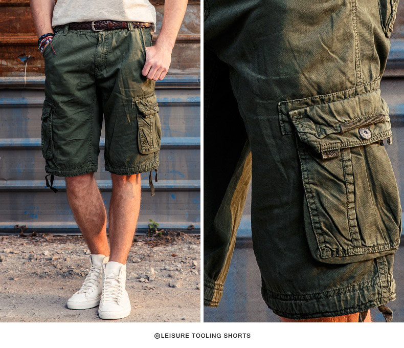 2017 Cargo Shorts Men Hot Sale Casual Camouflage Summer Brand TAPOO Clothing Cotton Male Fashion Army Work Shorts Men Plus Size