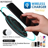 Roybens Fast Charger For Samsung Galaxy S8 Plus S7 Edge Qi Fast Wireless Charger For IPhone