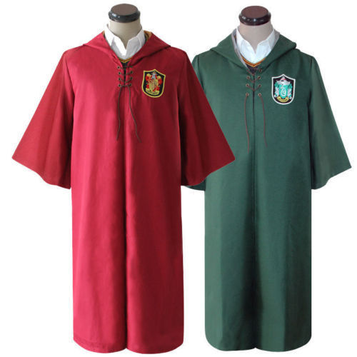 S-2XL Harri Potter Adult Robe Cloak Gryffindor Slytherin Quidditch cosplay costumes movie & tv costume