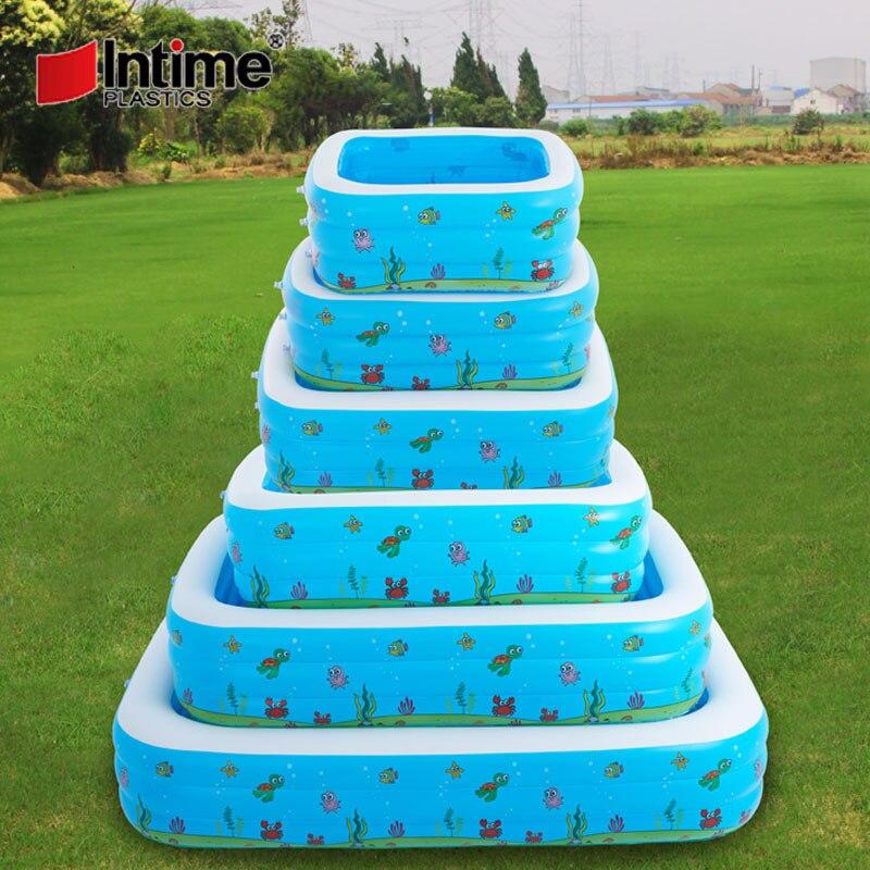 Piscine bébé gonflable bain de bain jouets été grandes 7-9 personnes piscines écologique PVC Portable - 6