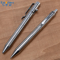 New Arrival Press Titanium Alloy Ballpoint Pen Metal Ball Pen Office Stationery High end Gift Ballpoint Pen Creative Gifts P742