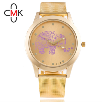 2016 new quartz watch women stainless dress girl golden rose lady Men Business Metal Band Analog Quartz Fashion Wrist Watches analog watch