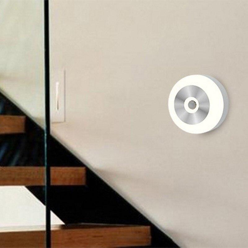 FENGLAIYI 5LED PIR Body Motion Sensor Wall Light LED Night Light Induction Lamp Closet Corridor Cabinet led Sensor Light Battery