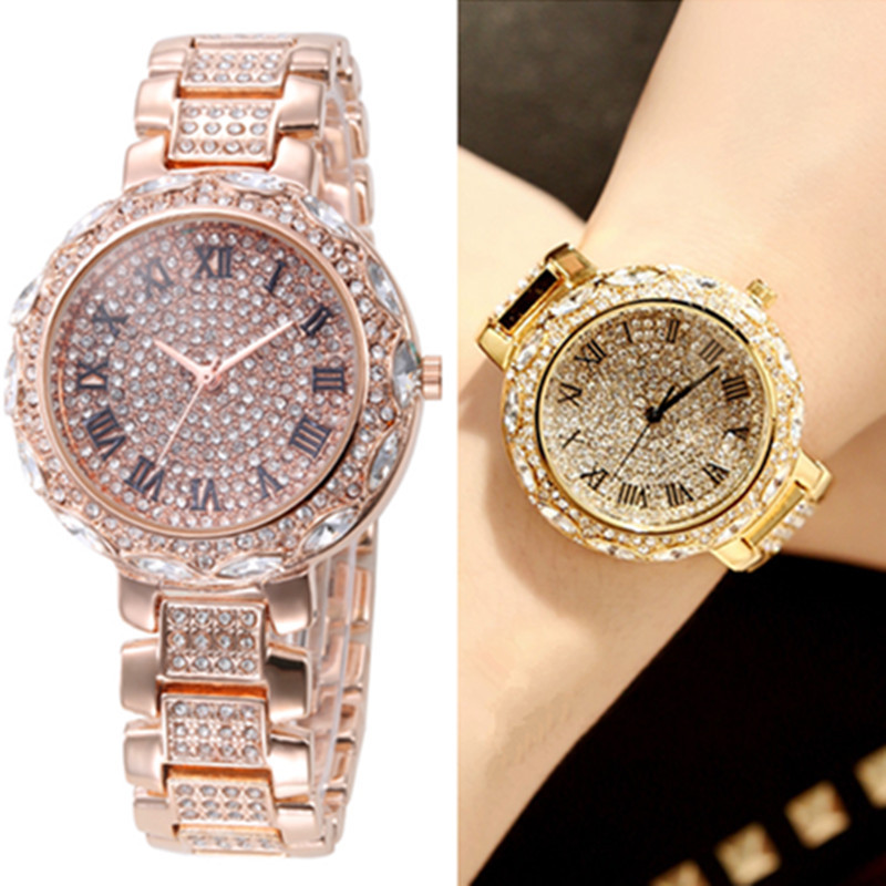 2017 Luxury brand women watch stainless steel Rhinestones quartz wrist watches Fashion ladies dress watch clock relogio feminino 2017 women wrist watches quartz rhinestones luxury watch famous brand full steel dress wristwatch relogio feminino men clock hot